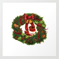 Christmas Wreath. Art No… Art Print