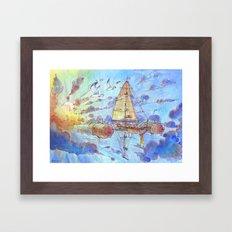 Viaggiando Nel Sole Framed Art Print