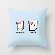 LORES or HI RES Throw Pillow