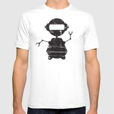 ROBO SI BW SMALL White Mens Fitted Tee