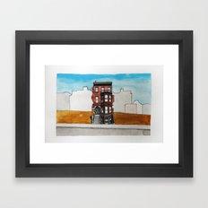 Last House Standing Framed Art Print