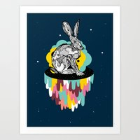 Space Rabbit Art Print