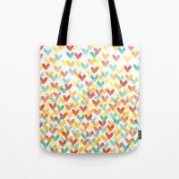 Falling Hearts Tote Bag
