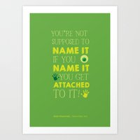 Don't Name It. Art Print