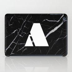 Black Marble - Alphabet A iPad Case