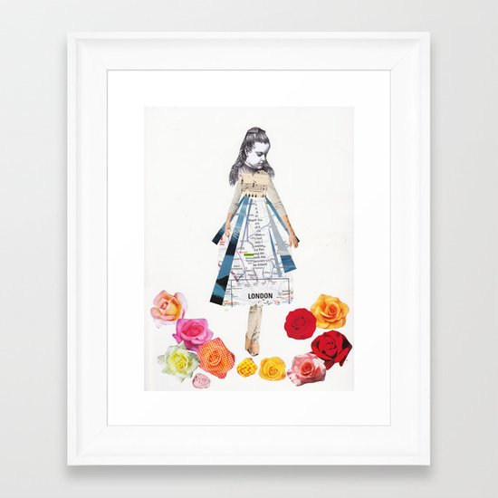 Lost by some roses Framed Art Print