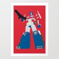 Transformers G1 - Optimu… Art Print