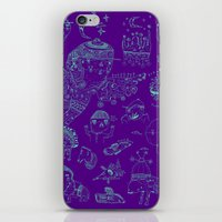 Space sketch iPhone & iPod Skin
