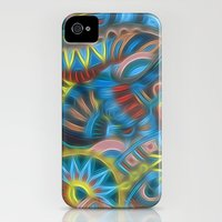 iPhone Cases featuring Blue Aztec Pattern by Kirsten Star