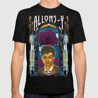 Doctor Who, David Tennan… Mens Fitted Tee Tri-Black SMALL