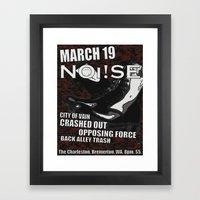 Show Flyer, 3/19/12 (NOi!SE) Framed Art Print