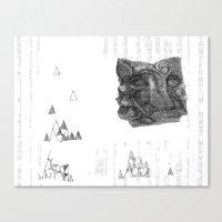abstrct anml Canvas Print