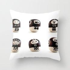 stoneheads 001 Throw Pillow