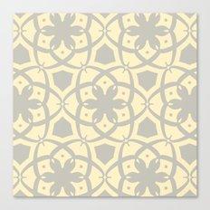 Pattern Print Edition 1 No. 1 (yellow and gray) Canvas Print