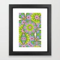 Color Me Spring Mandala Framed Art Print