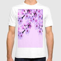 Cherry Blossom - In Memory of Mackenzie SMALL White Mens Fitted Tee