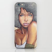 mermaid iPhone & iPod Cases featuring Mermaid by Bárbara  Kramer