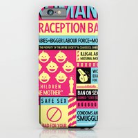 iPhone & iPod Case featuring Contraception Ban by Rena Littleson