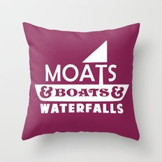 Moats and Boats and Waterfalls Graphic Throw Pillow