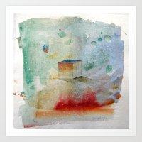 waxing crescent.three Art Print