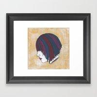 Heads Will Roll (Orange) Framed Art Print