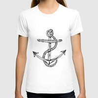 Anchor Womens Fitted Tee White SMALL