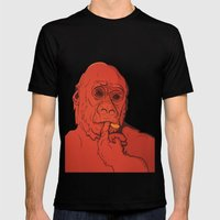 Warm Gorilla Mens Fitted Tee Black SMALL