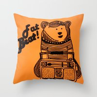 Fat Beat! Throw Pillow