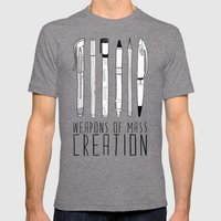 weapons of mass creation Mens Fitted Tee Tri-Grey SMALL