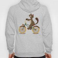 Raccoon On A Bicycle Hoody
