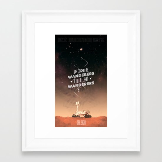 Wanderers - MSL/Curiosity Commemoration Print Framed Art Print