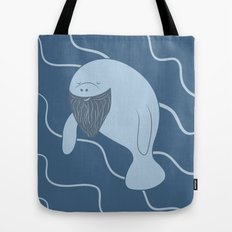 Silly Bearded Manatee Tote Bag