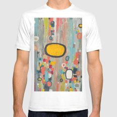 samedi matin Mens Fitted Tee SMALL White