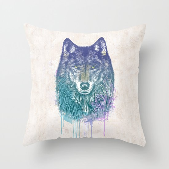 I Dream of Wolf Throw Pillow