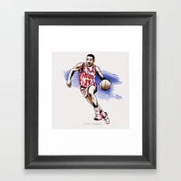 Isiah Thomas Framed Art Print