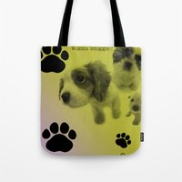 Puppy Snuggle Pillow Tote Bag