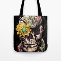 Snake and Skull Tote Bag