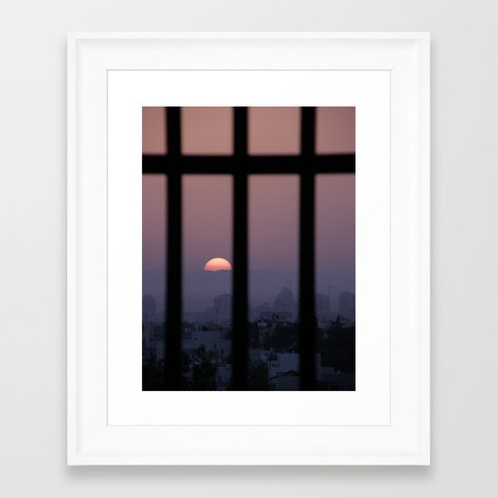 Sunrise prison Framed Art Print
