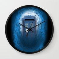 Through the Time Stream Wall Clock