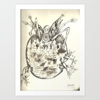 Larvae Art Print