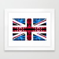 circuit board United Kingdom (flag) Framed Art Print