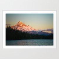 Mount Hood At Sunset, Fr… Art Print