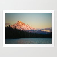 Mount Hood At Sunset, Fr… Art Print