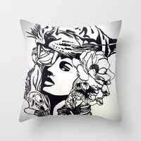 Strong Girl Throw Pillow