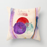 Painting & Coldplay Throw Pillow