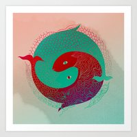 Year of the fish Art Print