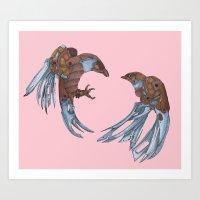 LOVE + BATTLE Art Print