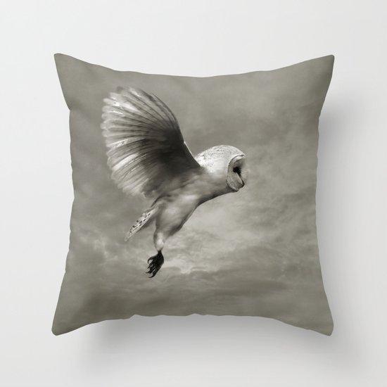 """Night Owl II"" Throw Pillow"