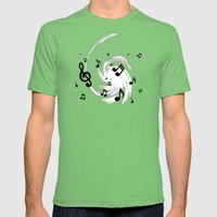 Music Notes Mens Fitted Tee Grass SMALL