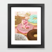 Donut Girl Framed Art Print